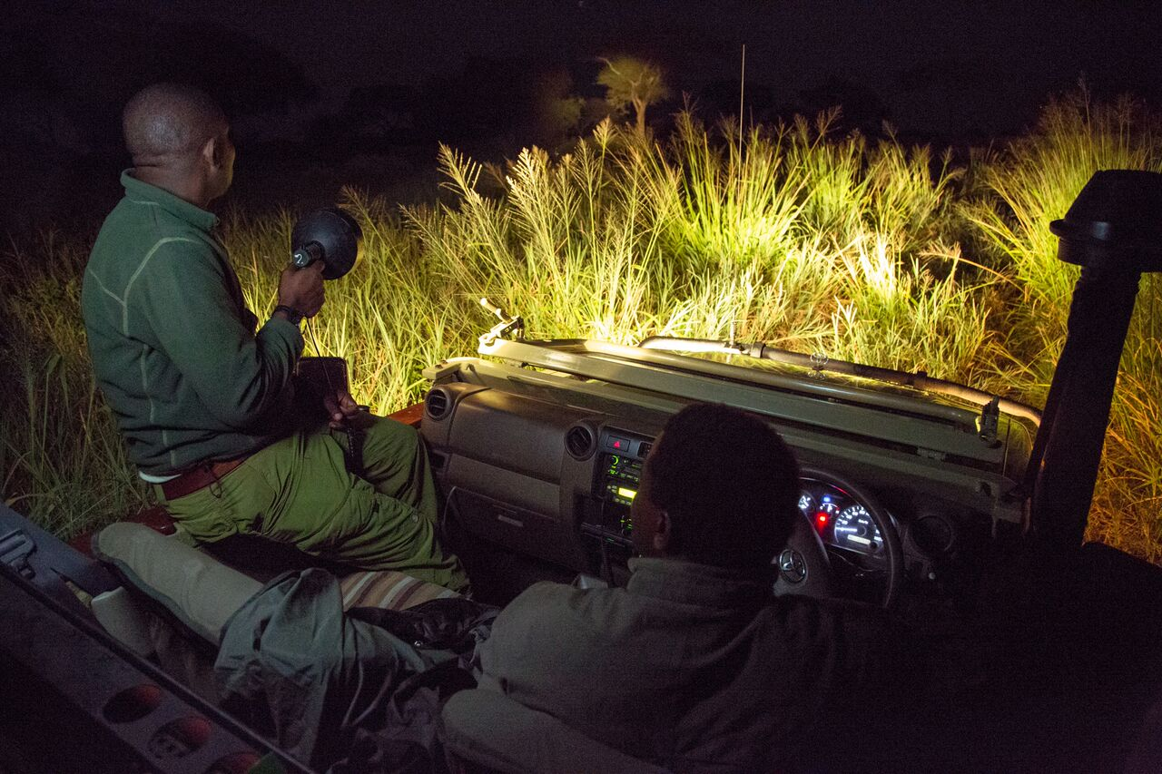 Night Safari in uganda